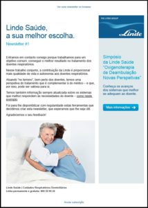 Linde Saúde - newsletter digital