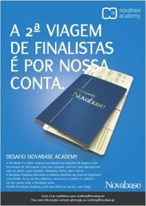 Novabase Academy - Cartaz Desafio, feito pela Hamlet Comunicação de Marketing B2B
