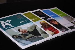 A Magazine - Comunicação institucional da ANA Aeroportos de Portugal, desenvolvida pela Hamlet