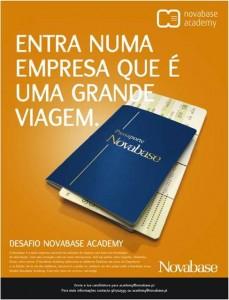 Novabase Academy - Cartaz Desafio, feito pela Hamlet - Comunicação de Marketing B2B