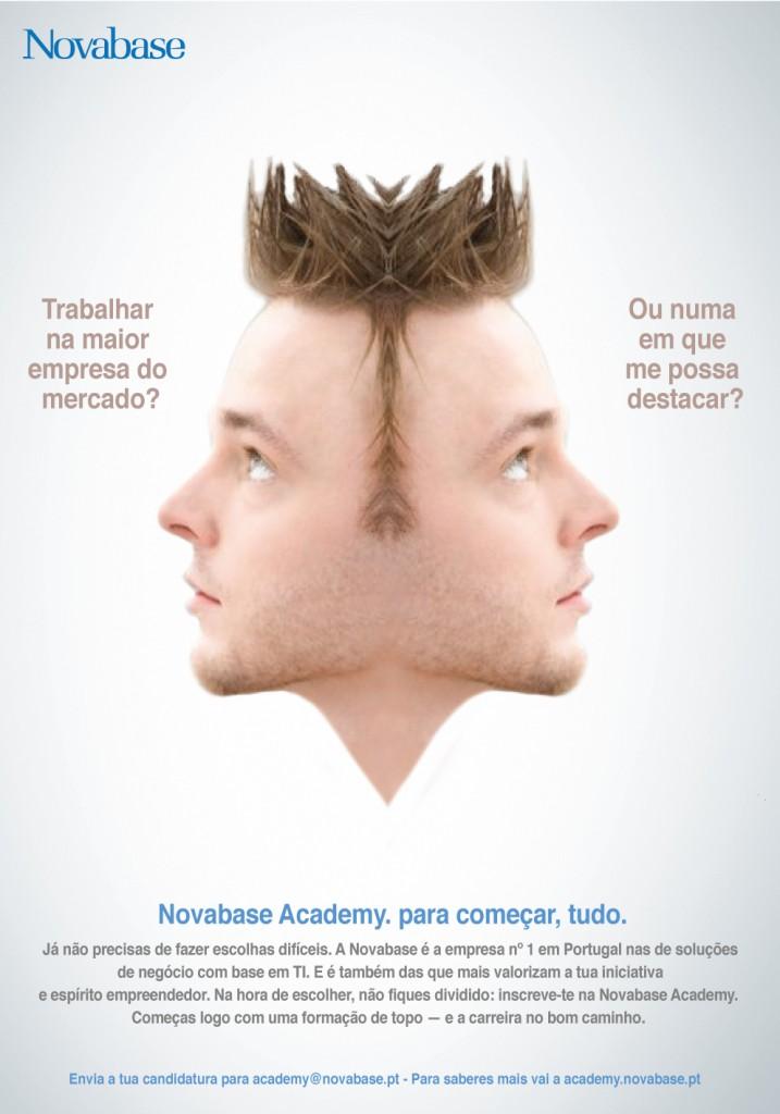 Campanha de recrutamento de talentos para a Novabase, criada pela Hamlet