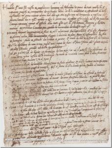 Carta de apresentação de Leonardo ao duque Ludovico Sforza