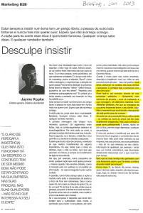 Artigo de Jayme Kopke no jornal Briefing