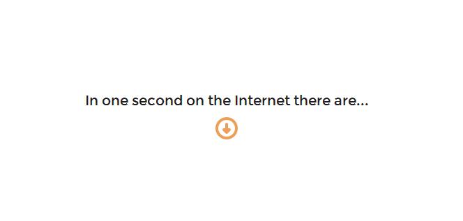 internet num segundo