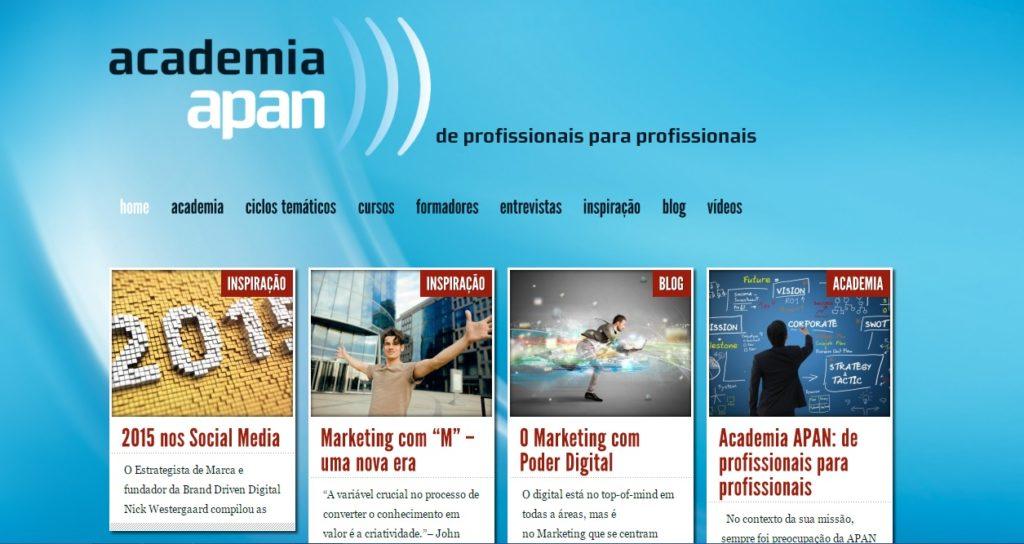 Academia APAN lança novo website