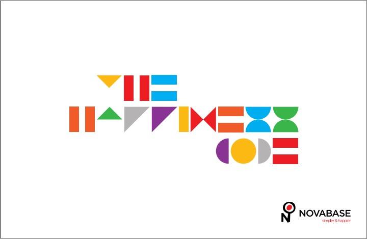 """""""Mais do que sistemas, desenhamos felicidade"""". Foi com este tema que, em 2015, a comunicação da Novabase exprimiu a promessa central da marca: tornar a nossa vida """"Simpler and Happier"""". A mesma ideia transformou-se, pelas mãos da Hamlet e da Musse Ecodesign, no """"O Código da Felicidade"""": o mote da brochura institucional da empresa, que acompanha o Relatório e Contas de 2014."""