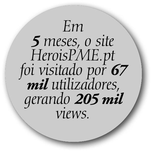 Visitas no site heroispme.pt