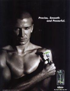 David Beckham em anúncio para a Gillette
