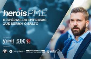 Preview do site heroispme.pt. O concurso que premeia as histórias de coragem das PME portuguesas foi criado pela Hamlet para a Yunit Consulting.