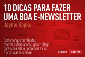 """Capa do ebook da Hamlet """"10 dicas para fazer uma boa e-newsletter"""""""